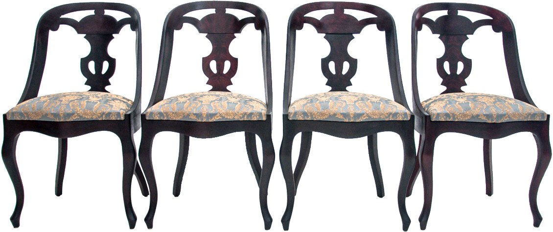 Set of Four Chairs, end of 19th C.
