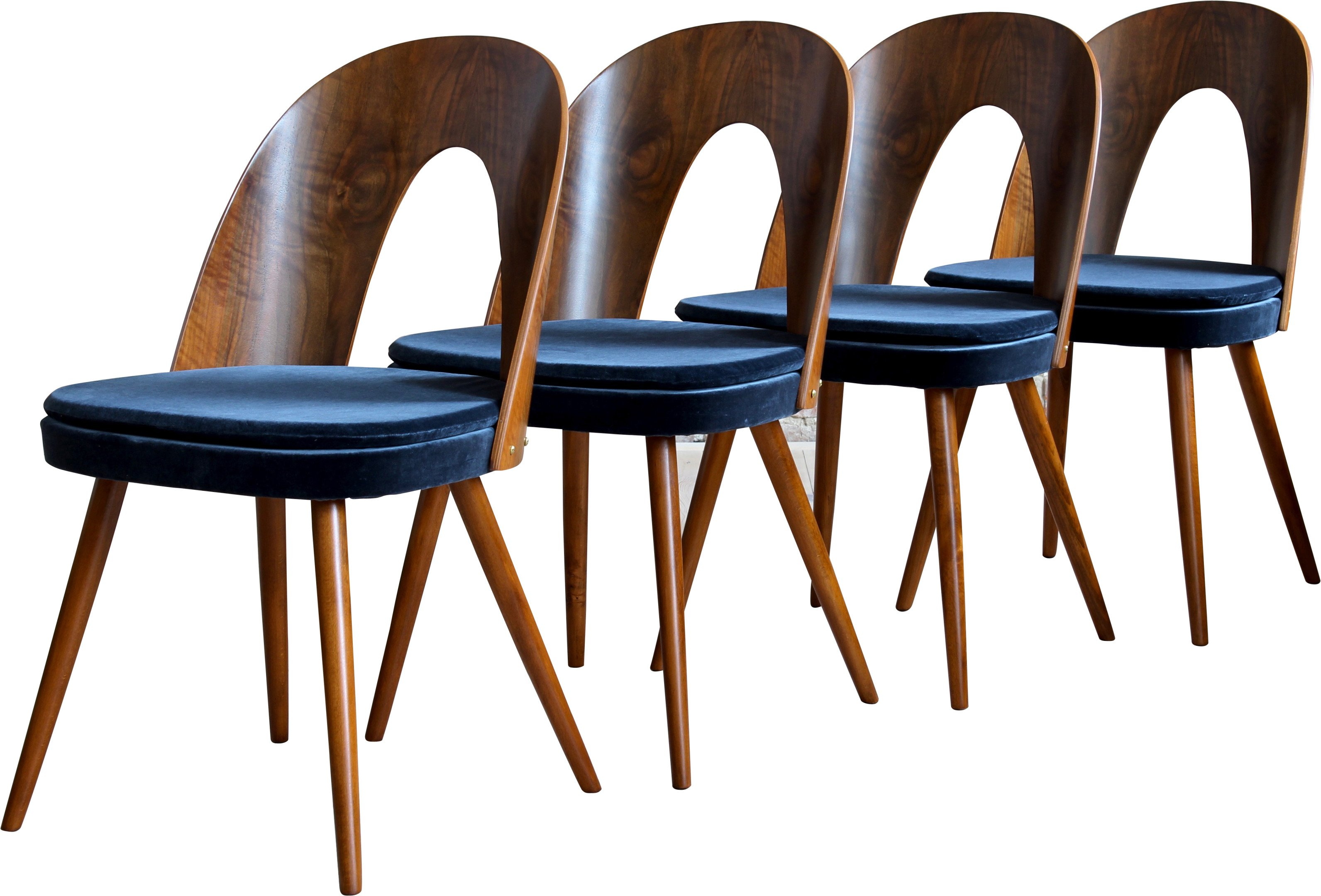 Set of Four Chairs by A. Suman for Tatra Nabytok, Czechoslovakia, 1960s