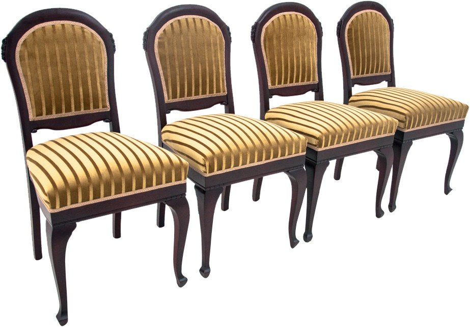 Set of Four Chairs, early 20th C.