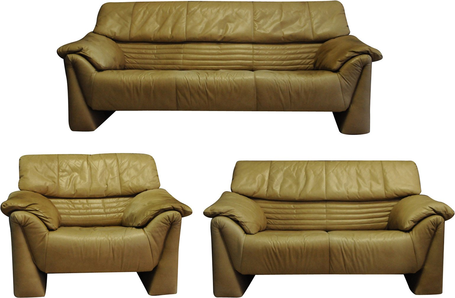 Set of Two Sofas and Armchair by V. Magistretti, Cassino, Italy, 1960s