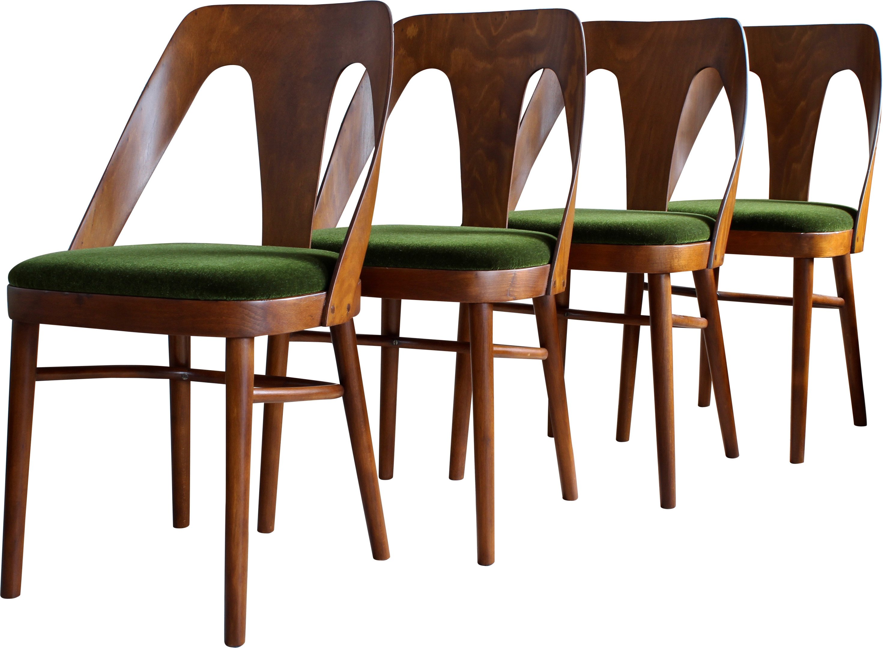 Set of Four A 6070 Chairs, Fameg, Poland, 1960s