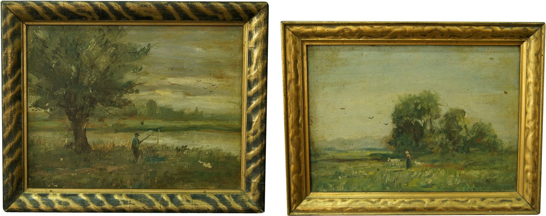 Pair of Paintings by H. Kiel, 1928