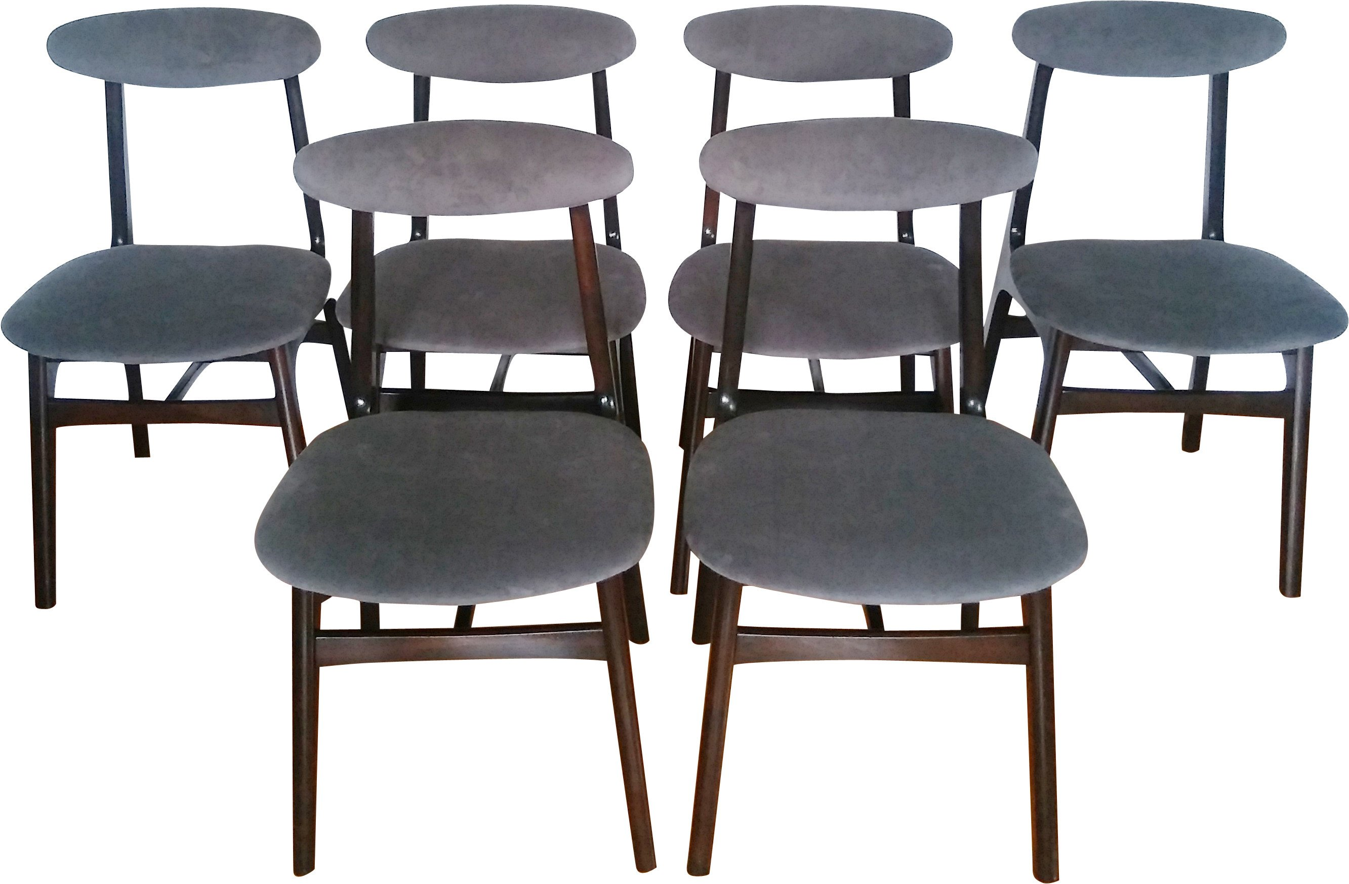 Set of Six Chairs by R. Hałaas, Poland, 1960s