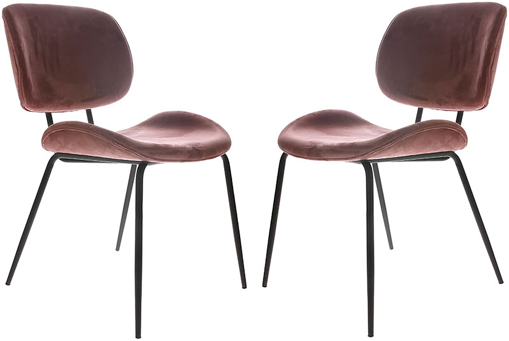 Pair of Pink Velvet Chairs, HKliving