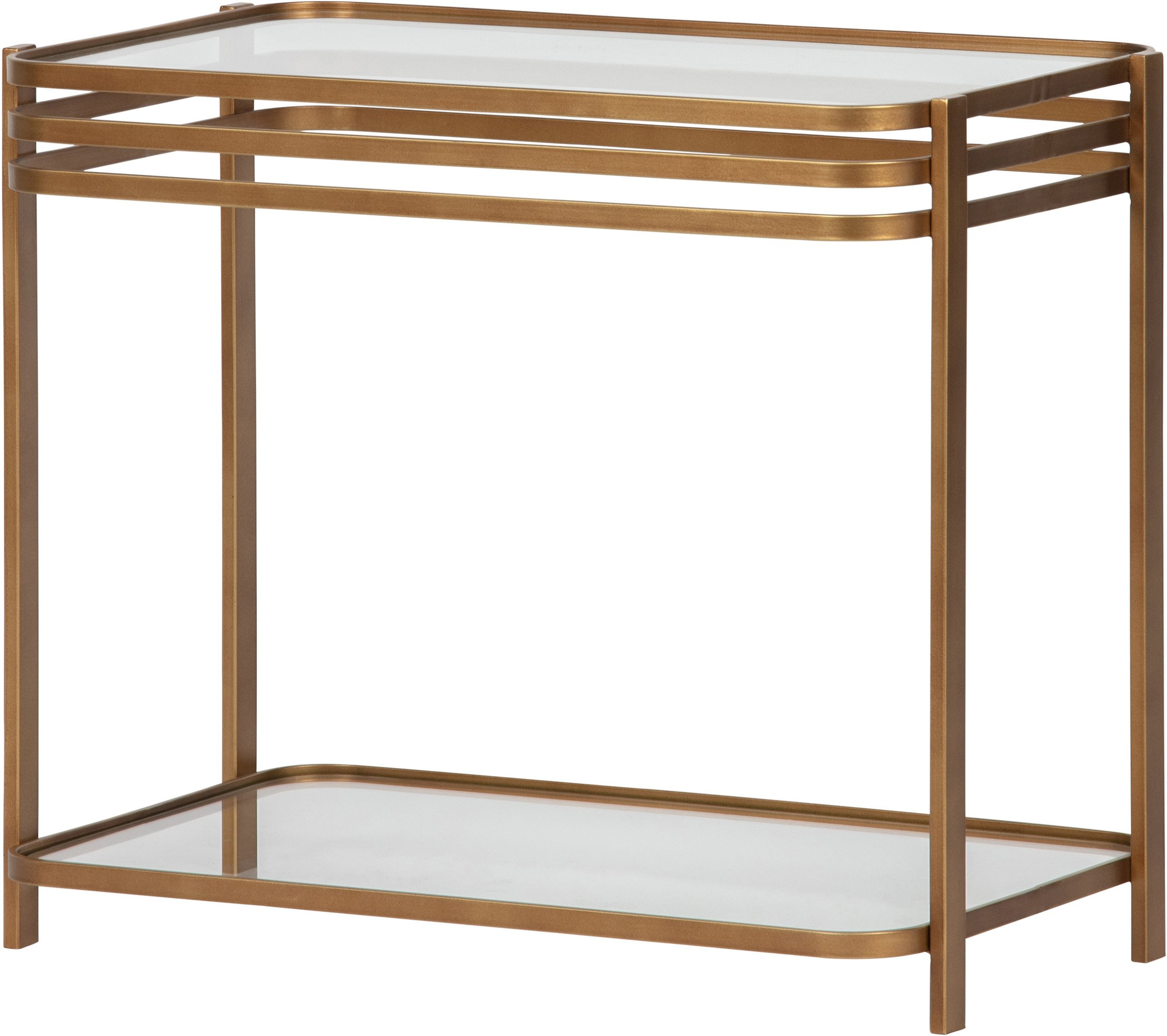 Kylie Side Table Brass, Woood