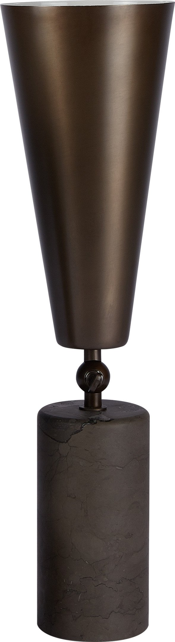 Large Bronze and Persian Marble Vox Table Lamp by L. Bozzoli for Tato Italia - 459903 - photo