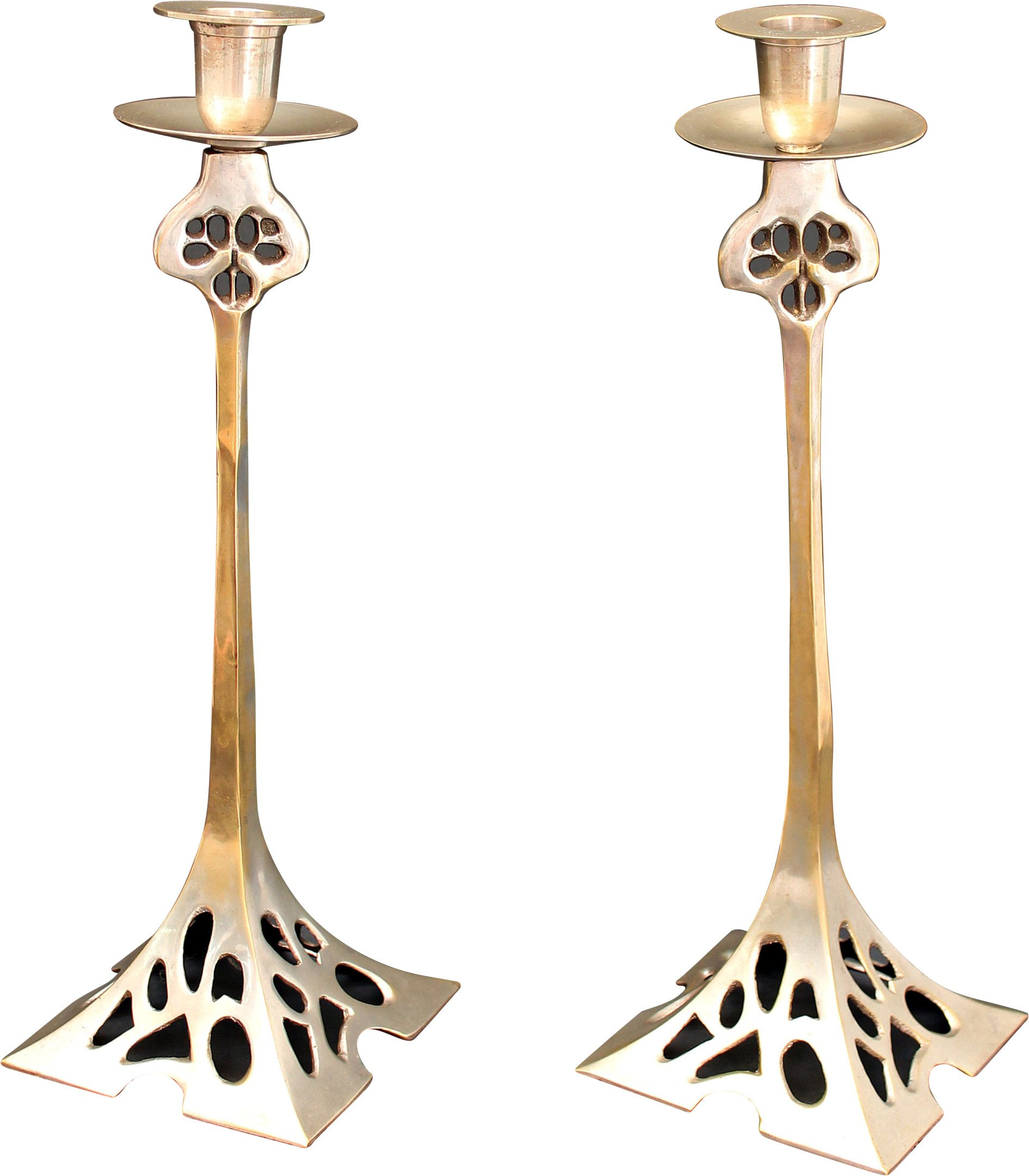 Pair of Candleholders, early 20th C.