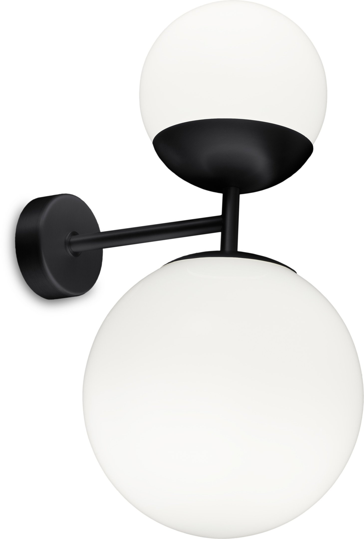 Black Biba Wall Lamp by L. Bozzoli for Tato Italia