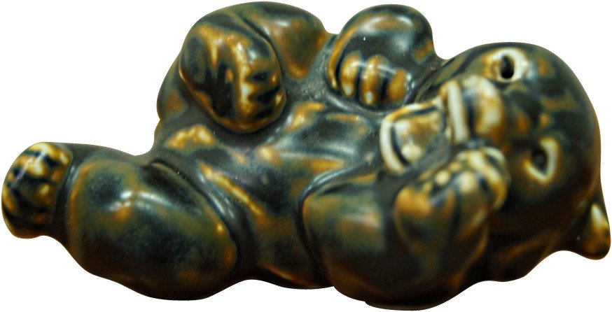 Bear Paperweight by K. Kyhn for Royal Copenhagen, Denmark, 1960s