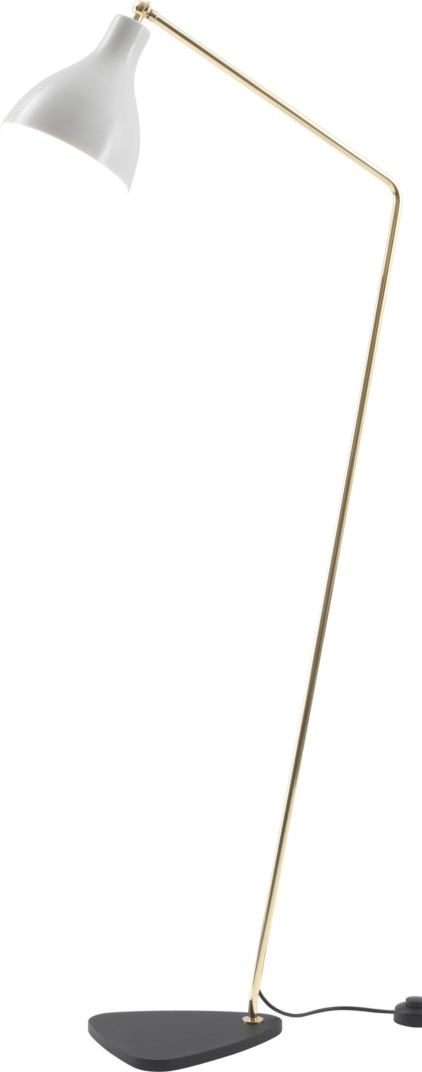 White Brass Lady V Inclinata Floor Lamp, Tato Italia
