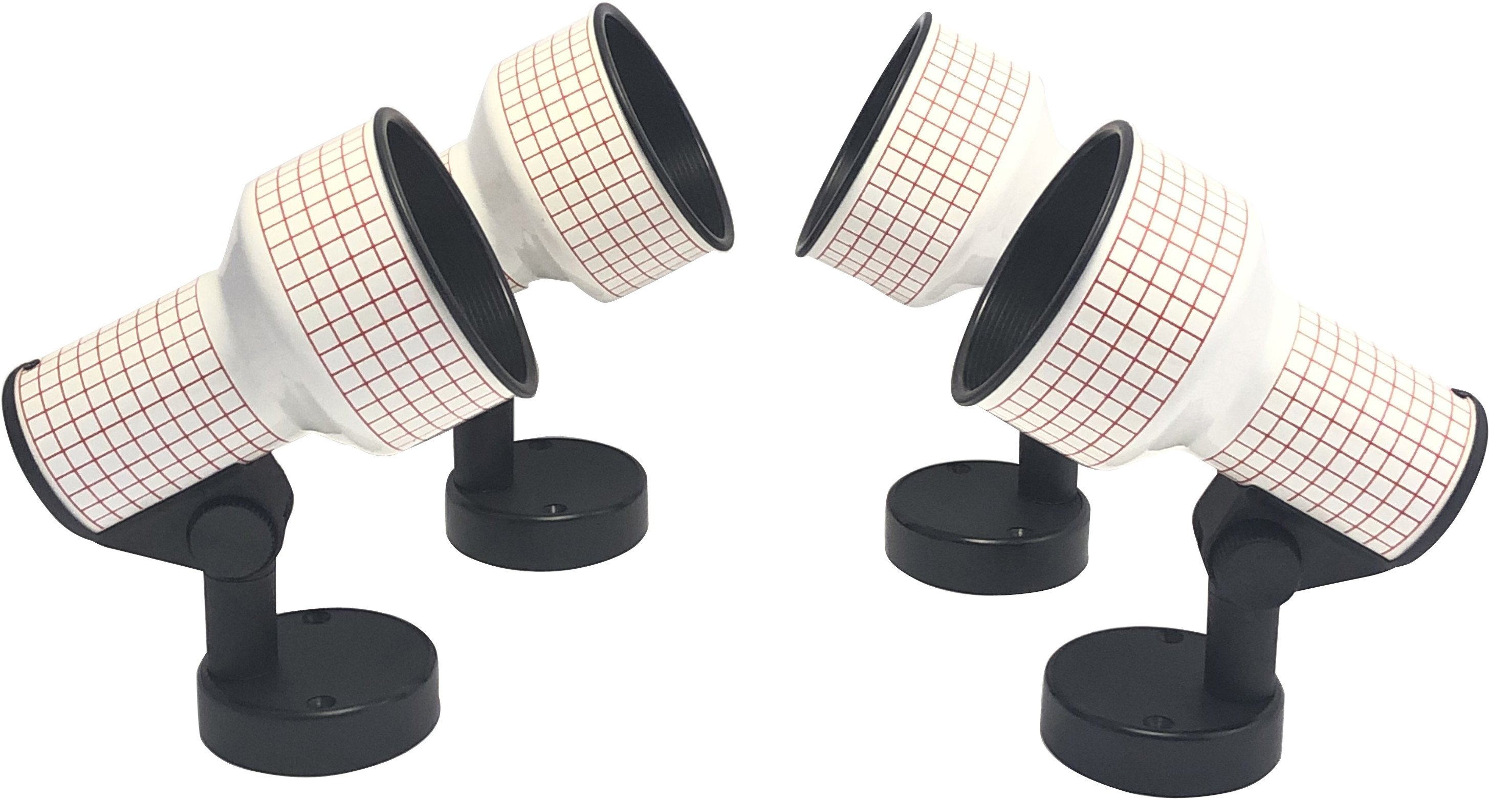 Set of Four Wall Lamps, Brilliant Leuchten, Germanay, 1970s