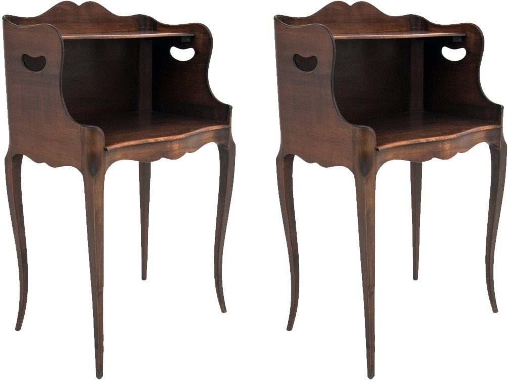 A Pair of Bedside Tables, France, 1950s