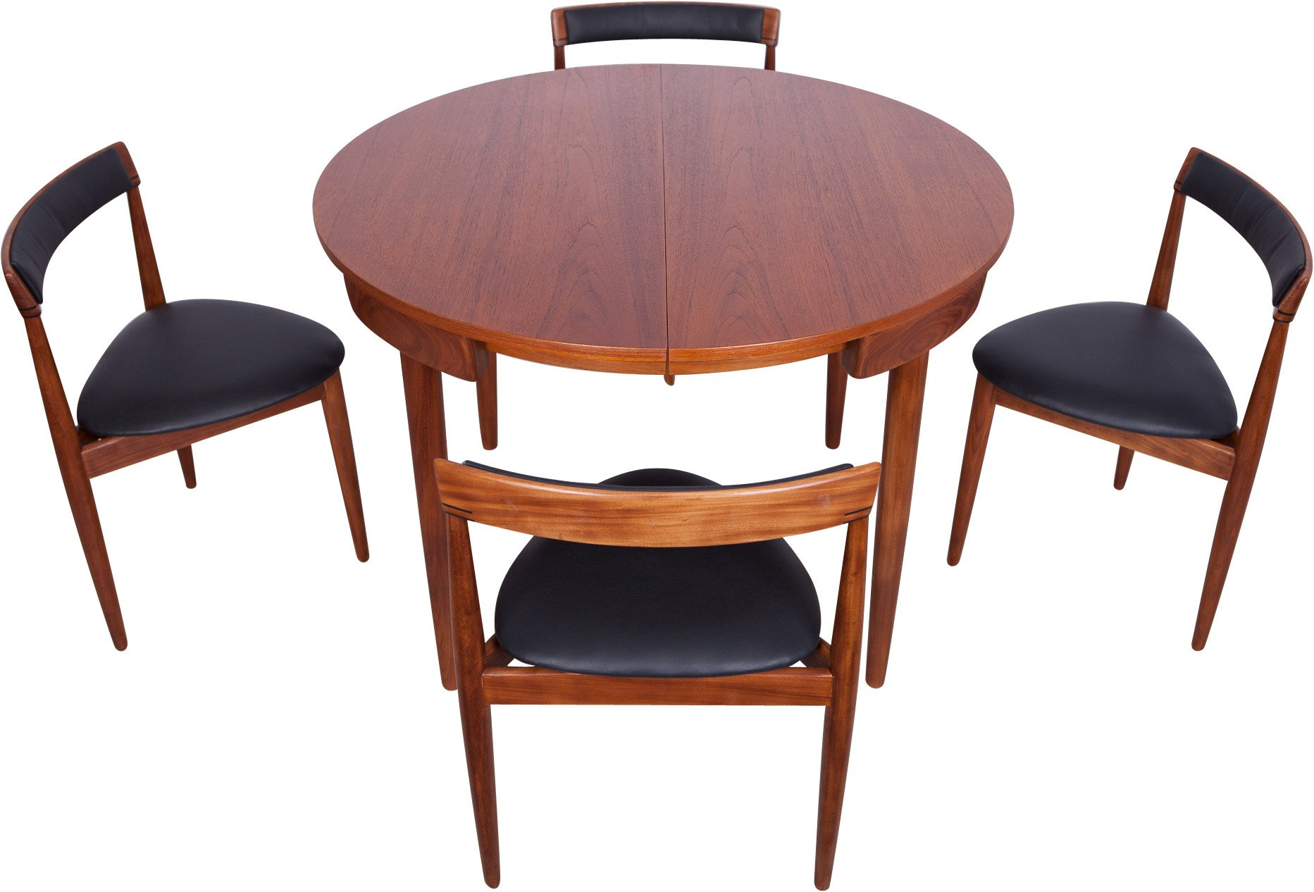 Set of Four Chairs and a Table by H. Olsen, Frem Røjle, Denmark,1950s