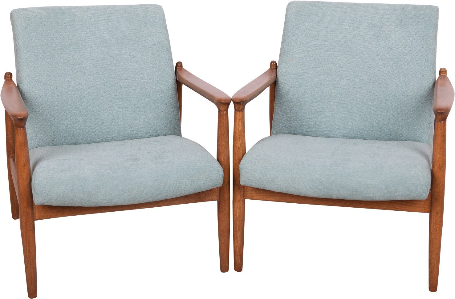 Pair of Armchairs by E. Homa, Poland, 1970s