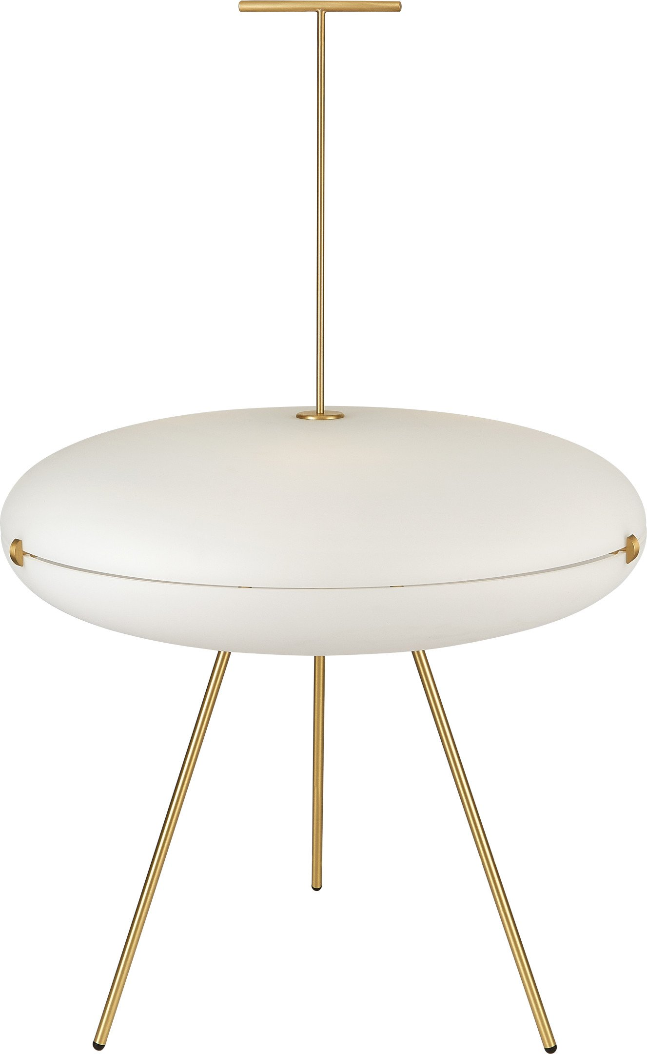 Brass Luna Orizzontale Floor Lamp by G. Ponti for Tato Italia