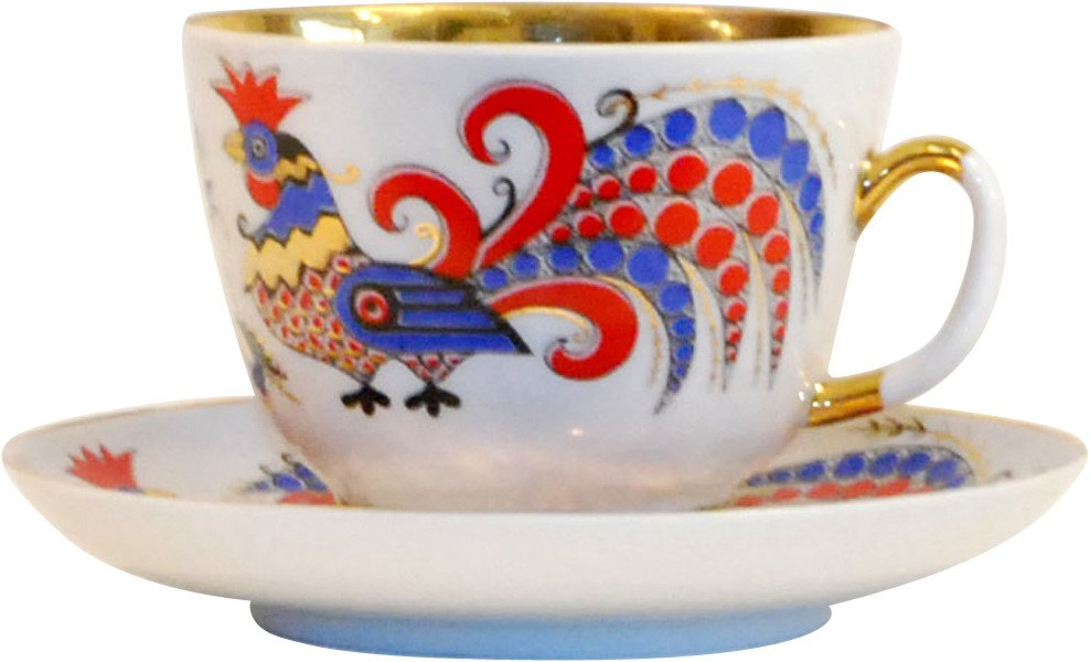 Cup and Plate, Lomonosov, Russia, 1970s