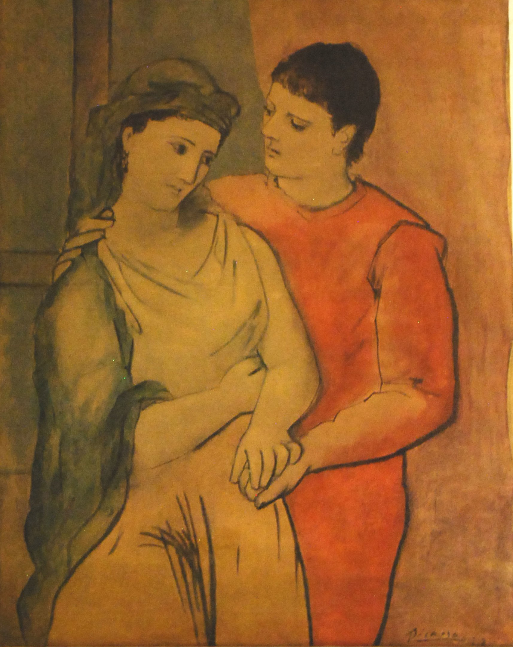 Reproduction of Oil Painting Lovers by Pablo Picasso, 1960s