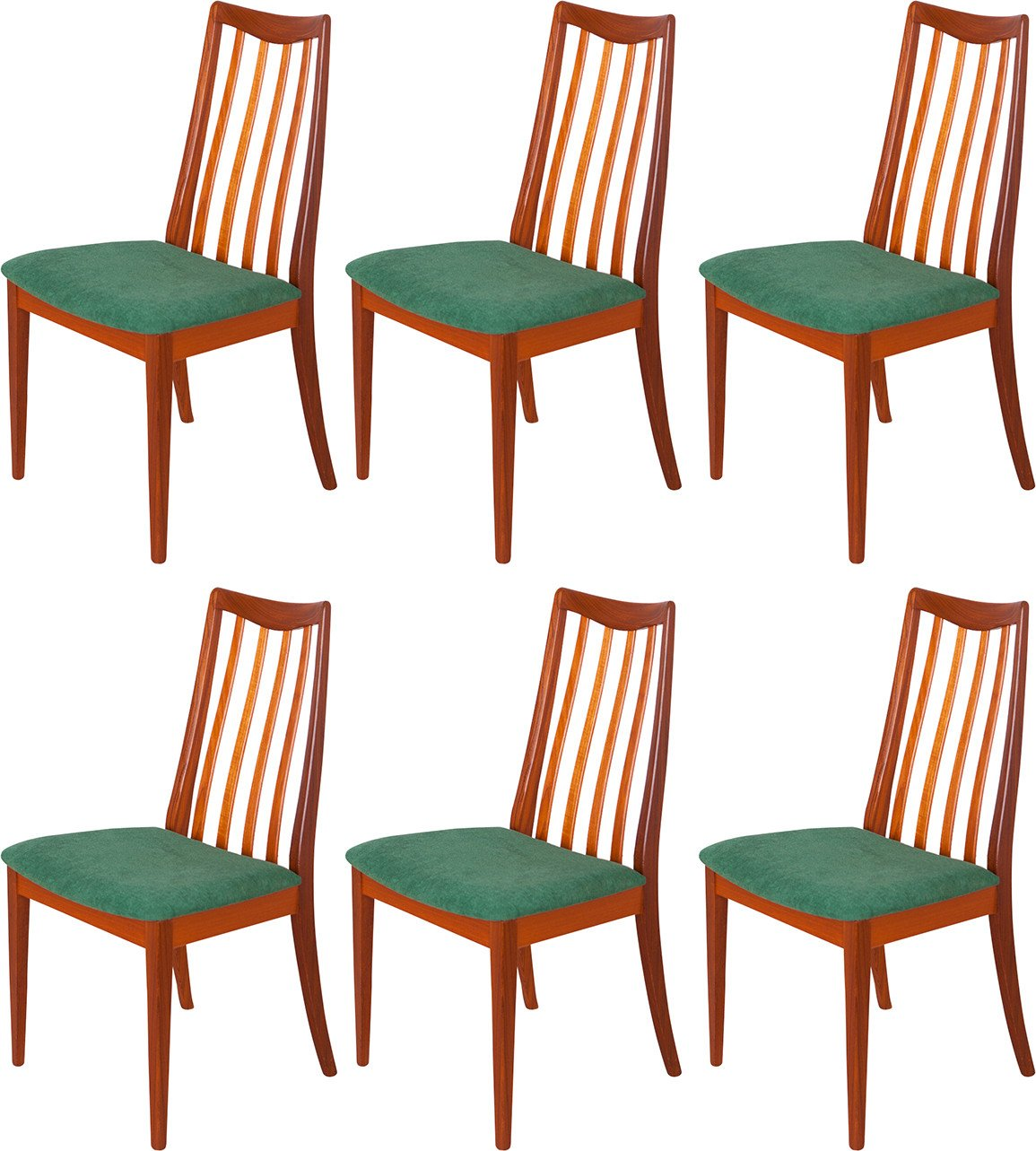 Set of Six Chairs by L. Dandy for G-Plan, United Kingdom, 1960s