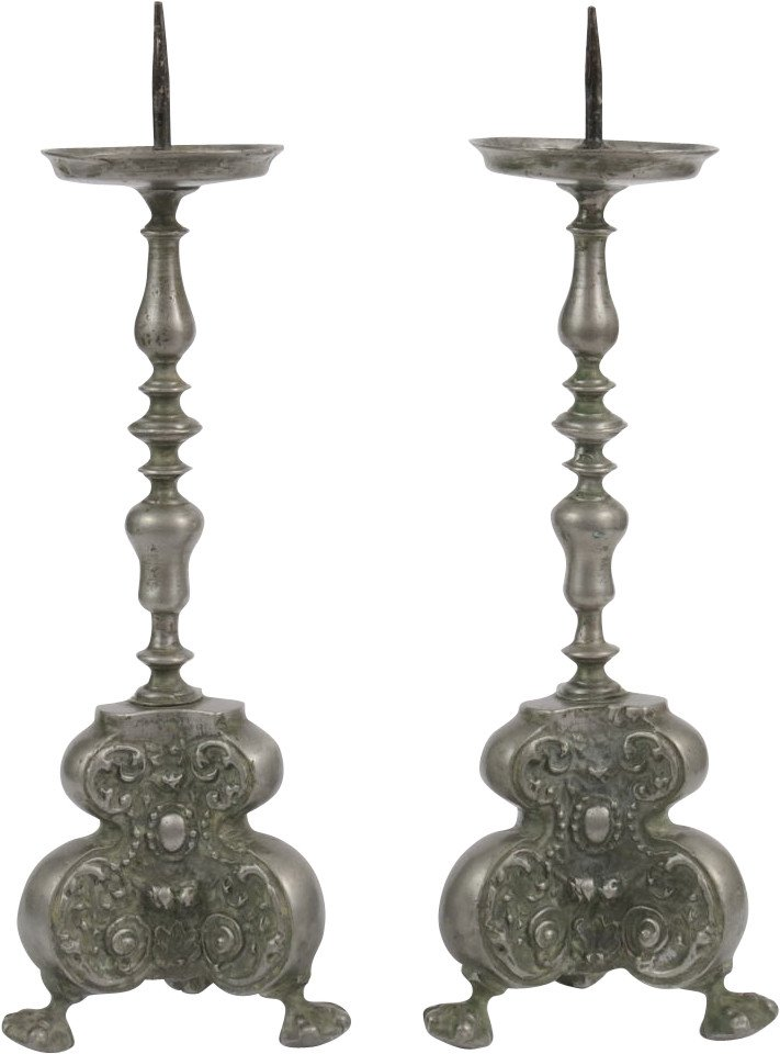 Pair of Candleholders, Germany, 18th C.