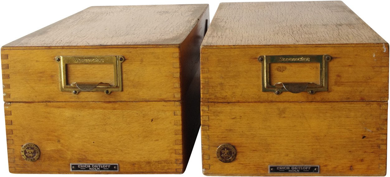 Pair of Catalogue Boxes by E. Ortloff, 1960s
