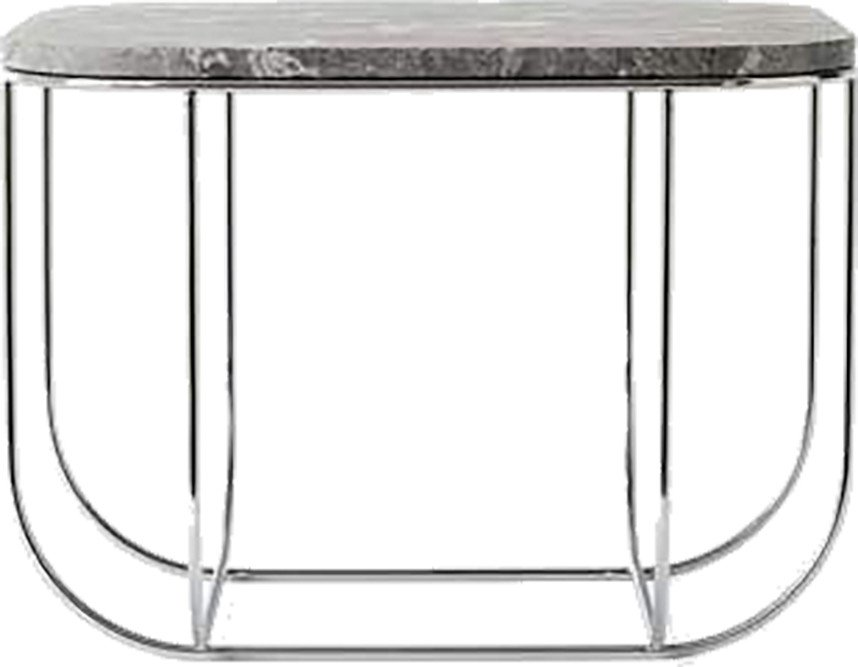 Cage Table Chrome/Grey Marble by Form Us WIth Love for Menu