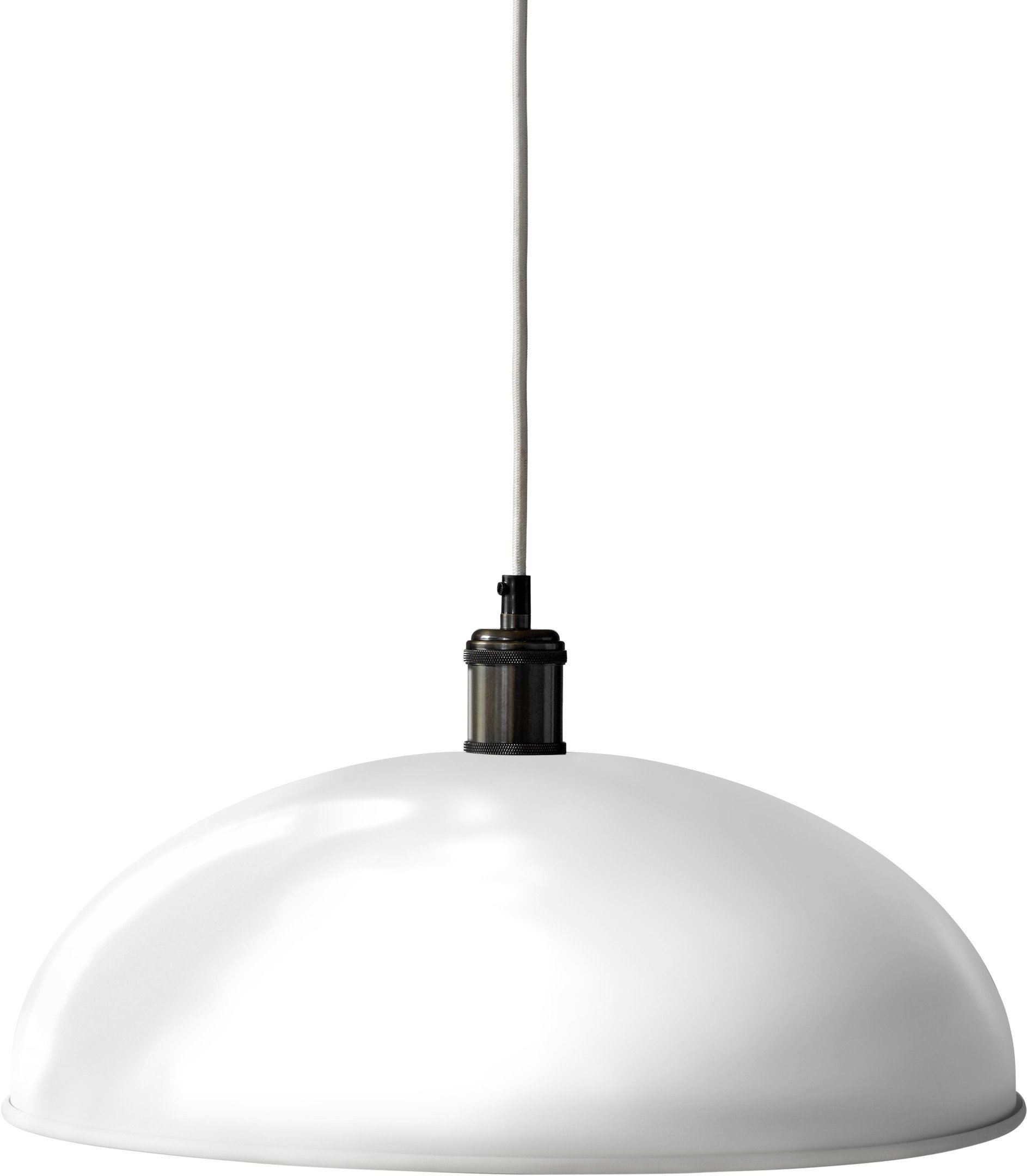 Hubert Pendant Lamp Ivory/Bronzed Brass Ø 45cm by Soren Rose Studio for Menu
