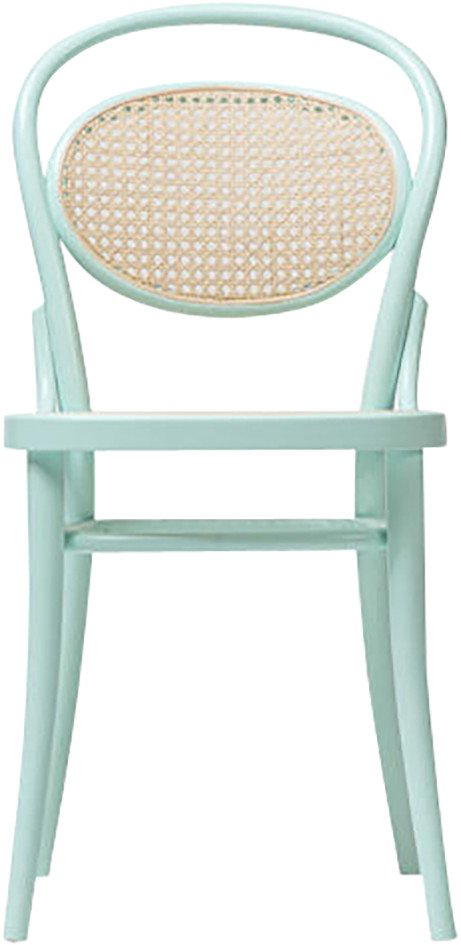 Aqua Green 20 Chair with Cane Rattan Seat, TON, Czech Republic