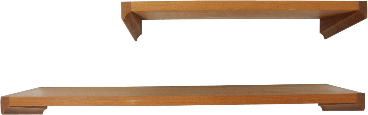 Pair of Shelves by H. W. Klein for Bramin, Denmark, 1960s