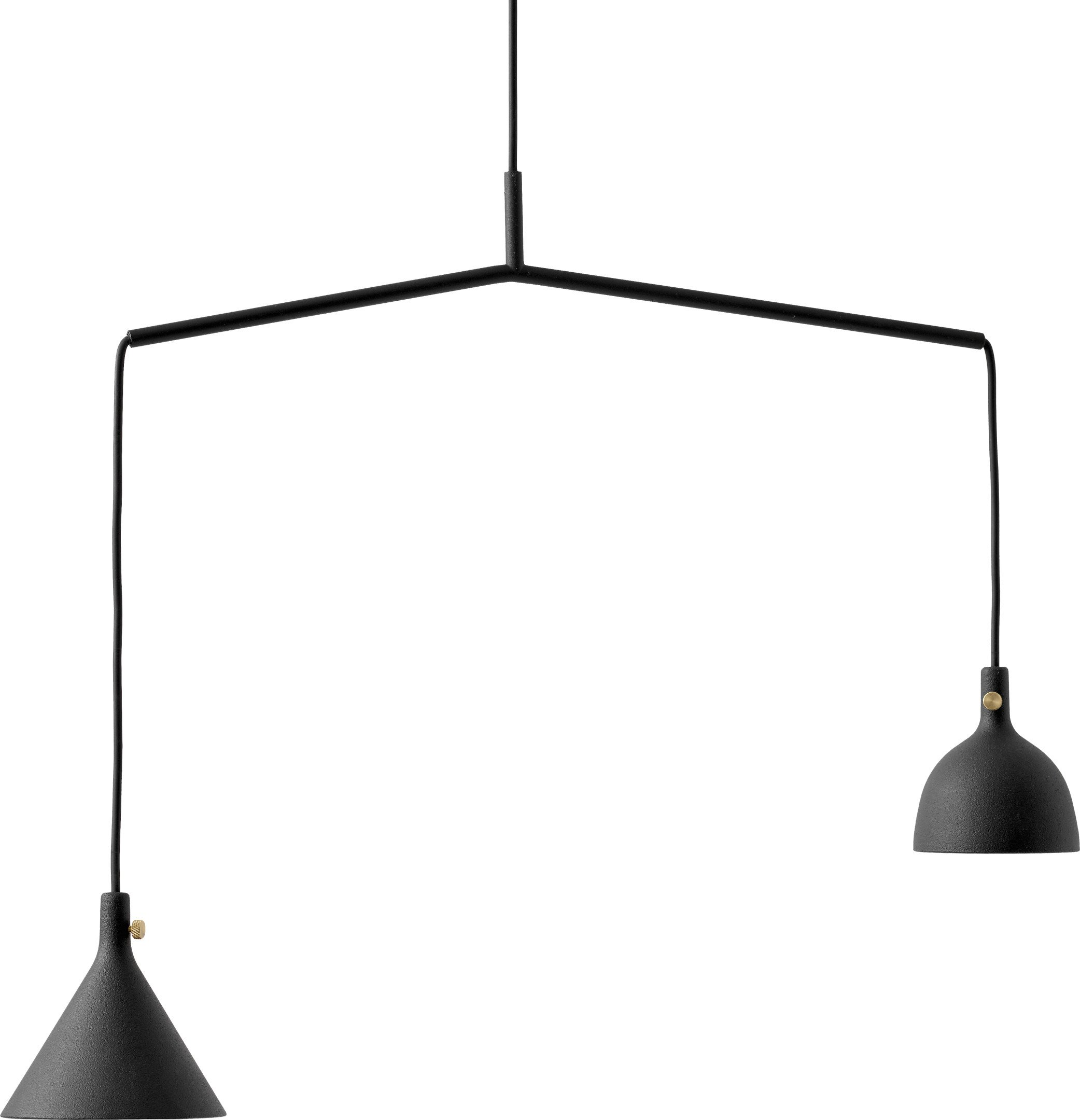 Cast Pendant Lamp Shape 4 in Black by T. Chung & J. Murphy for Menu