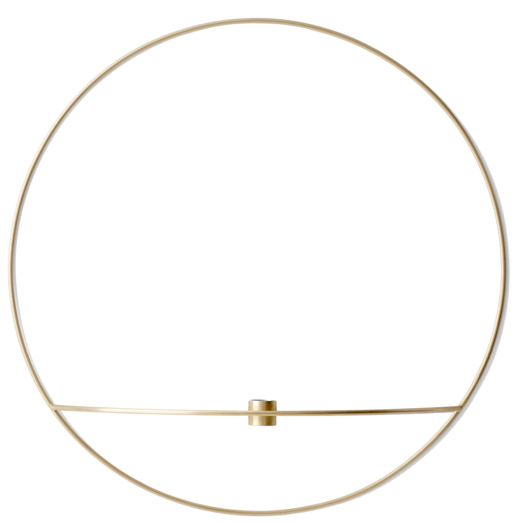 POV Circle Tealight Candleholder Brass Large, by Note Design Studio for Menu
