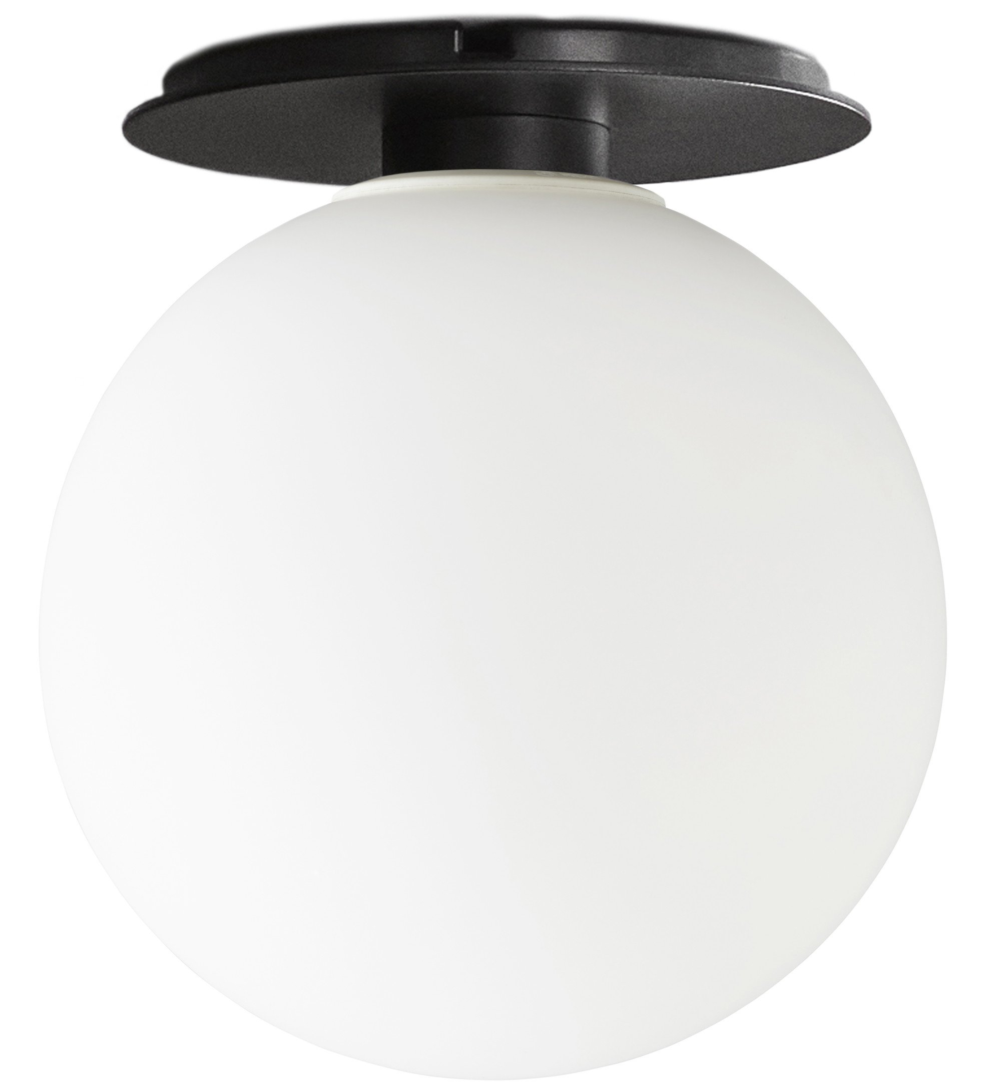 TR Bulb, Ceiling/Wall Lamp Black/Matte Opal by Tim Rundle for Menu
