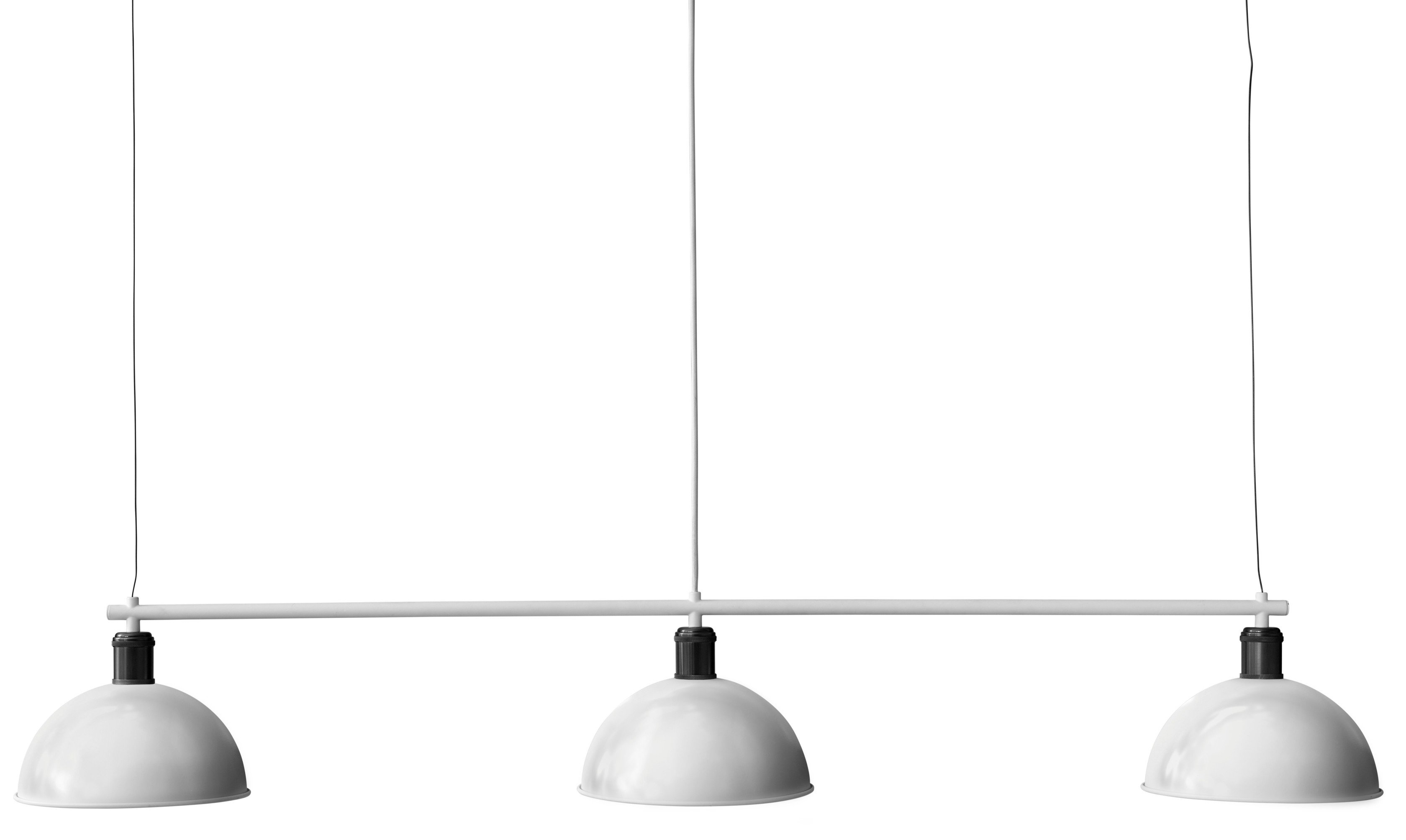 Hubert Pendant Lamp Ivory/Bronzed Brass, by Soren Rose Studio for Menu