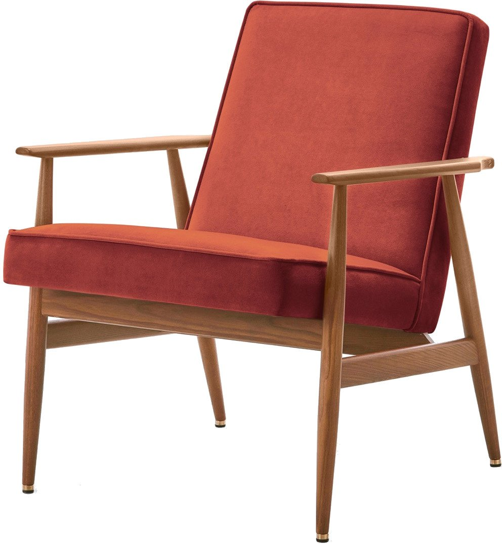 Armchair Fox Velvet Orange, 366 Concept