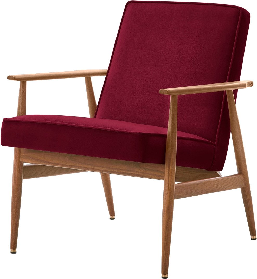 Armchair Fox Velvet Red, 366 Concept