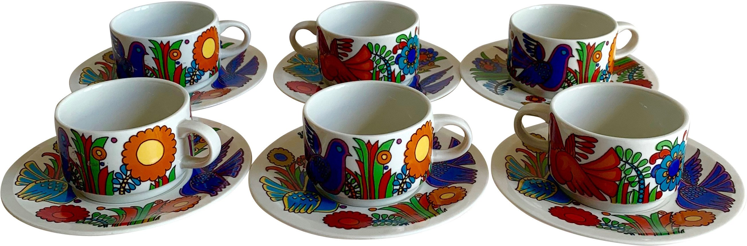 Dinnerware Set by C. Reuter for Villeroy & Boch, Germany, 1960s