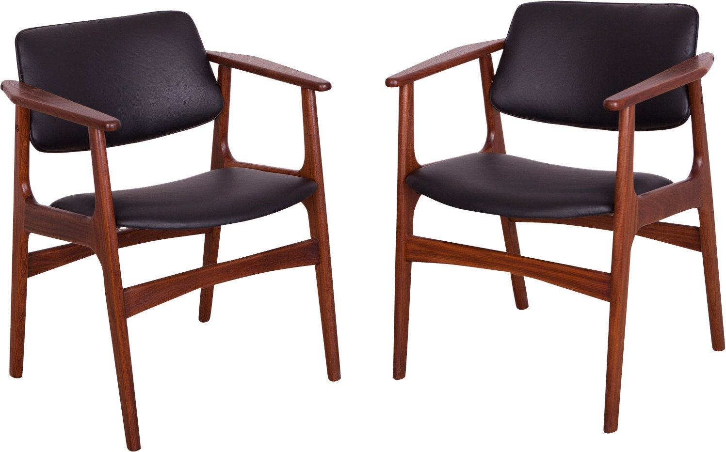 Pair of Armchairs by A. Vodder, Denmark, 1960s