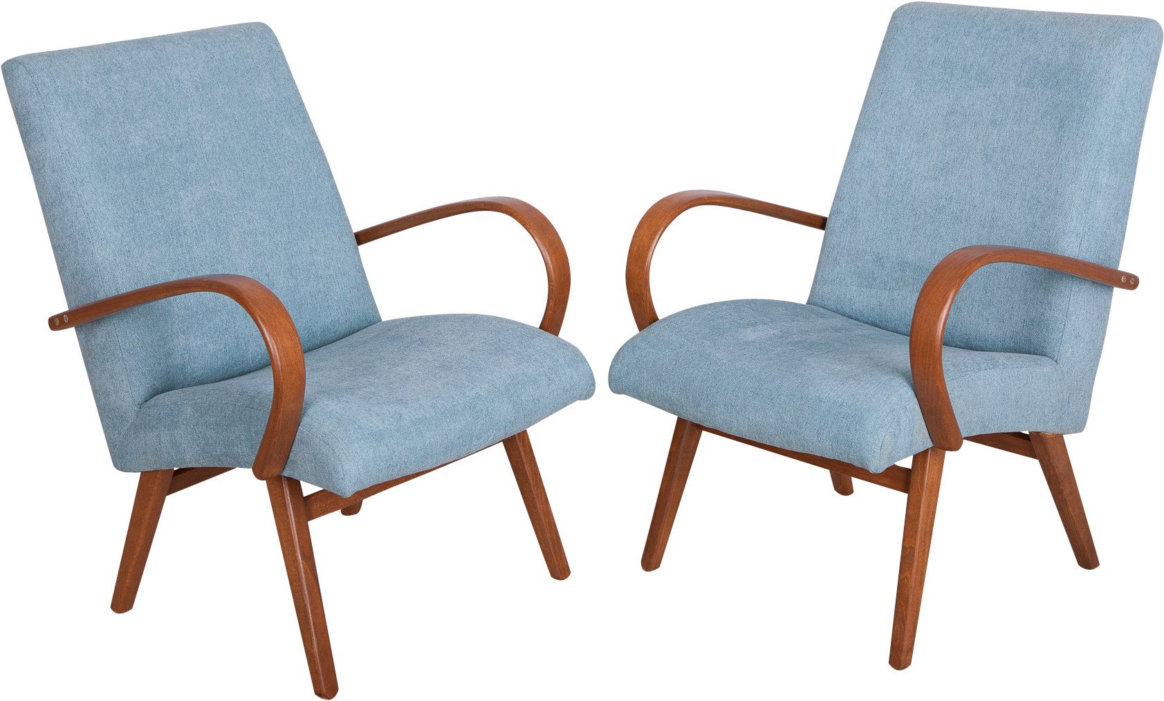 Pair of Armchairs by J. Šmidek for TON, Czechoslovakia, 1960s