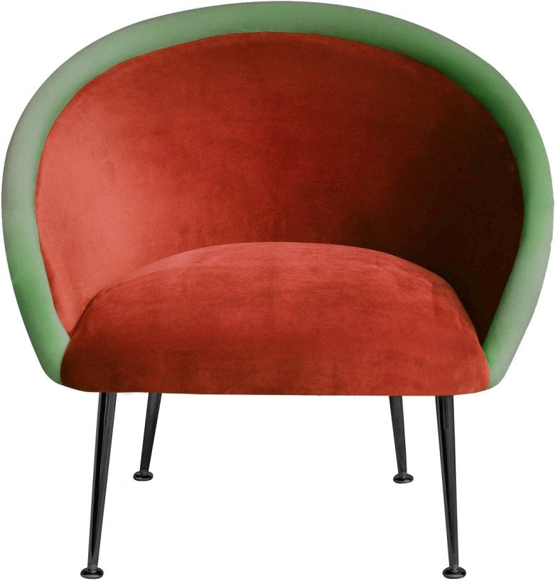 Plum Armchair  3 red / green by K. Jasyk, Happy Barok