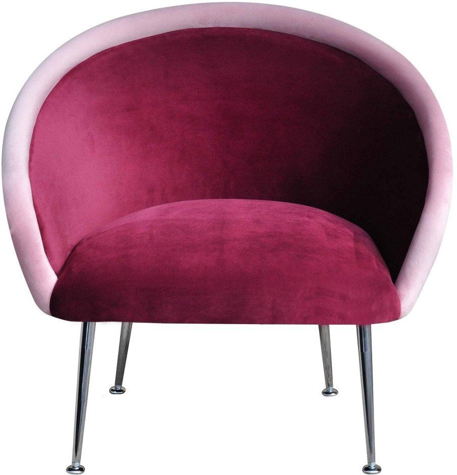 Plum Armchair  3 pink by K. Jasyk, Happy Barok