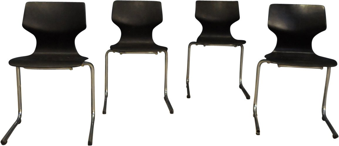 Set of Four Chairs, BUND, Germany, 1960s
