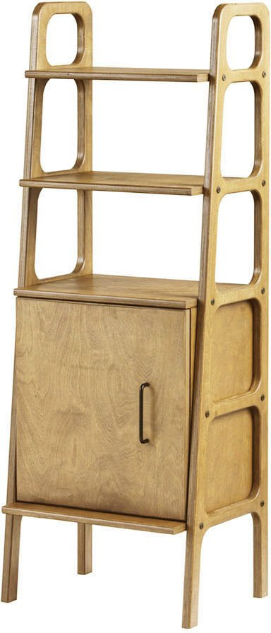 Oak Frisk Midi Slim Bookcase with Cabinet, Plywood Project