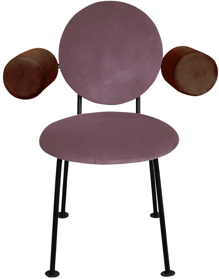 Violeta and Brown Medallion Armchair by K. Jasyk for Happy Barok