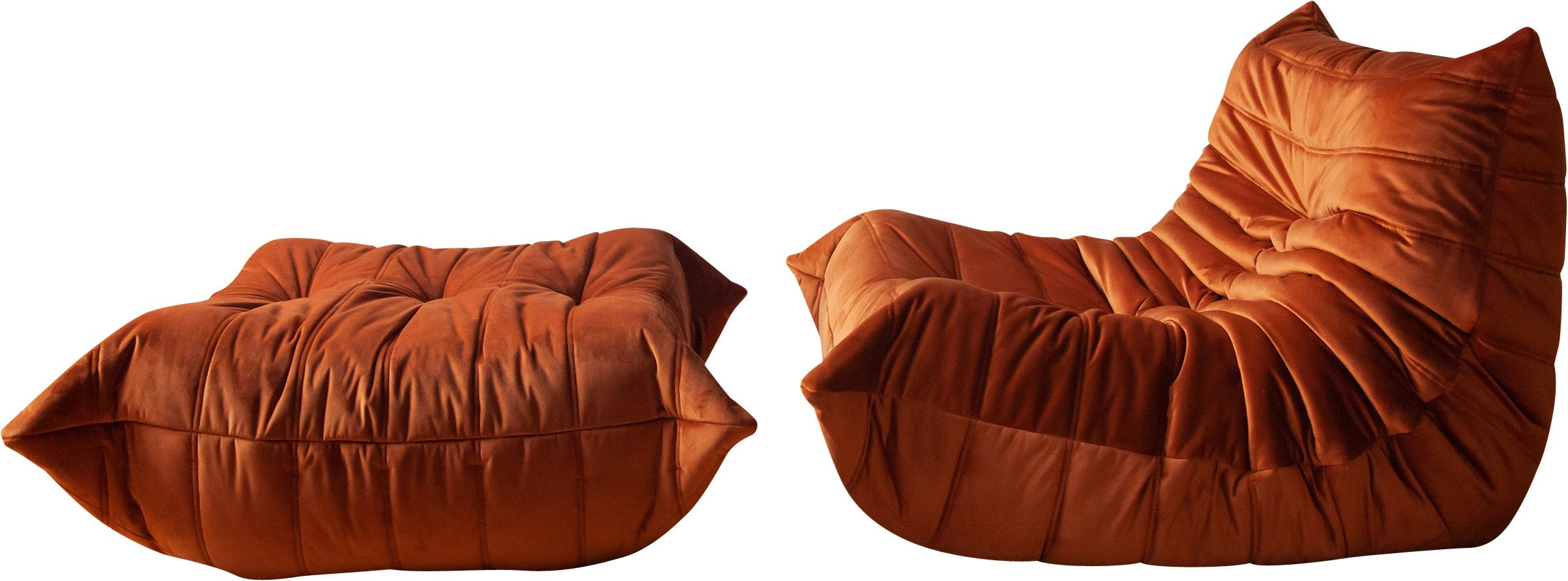 Armchair and Pouffe by M. Ducaroy for Ligne Roset, 1970s