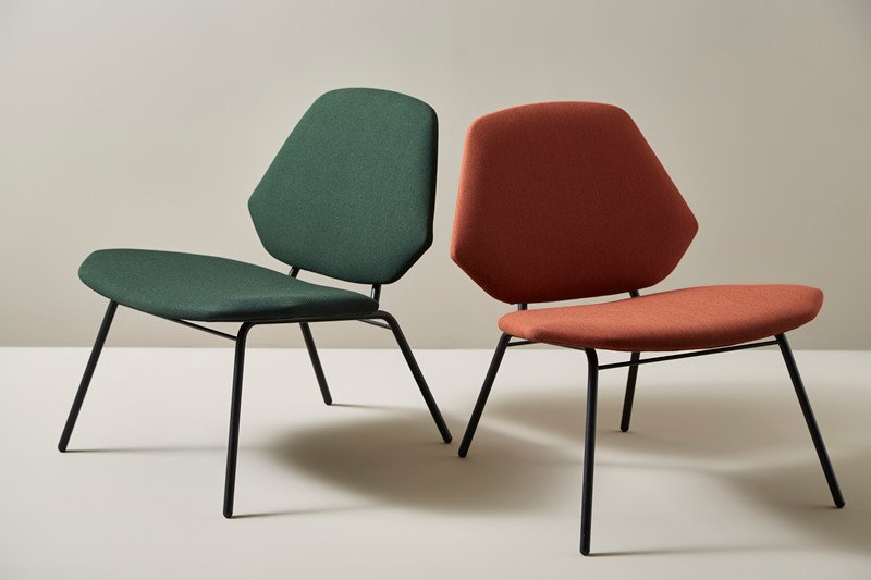 Lean lounge chair by NUR for WOUD