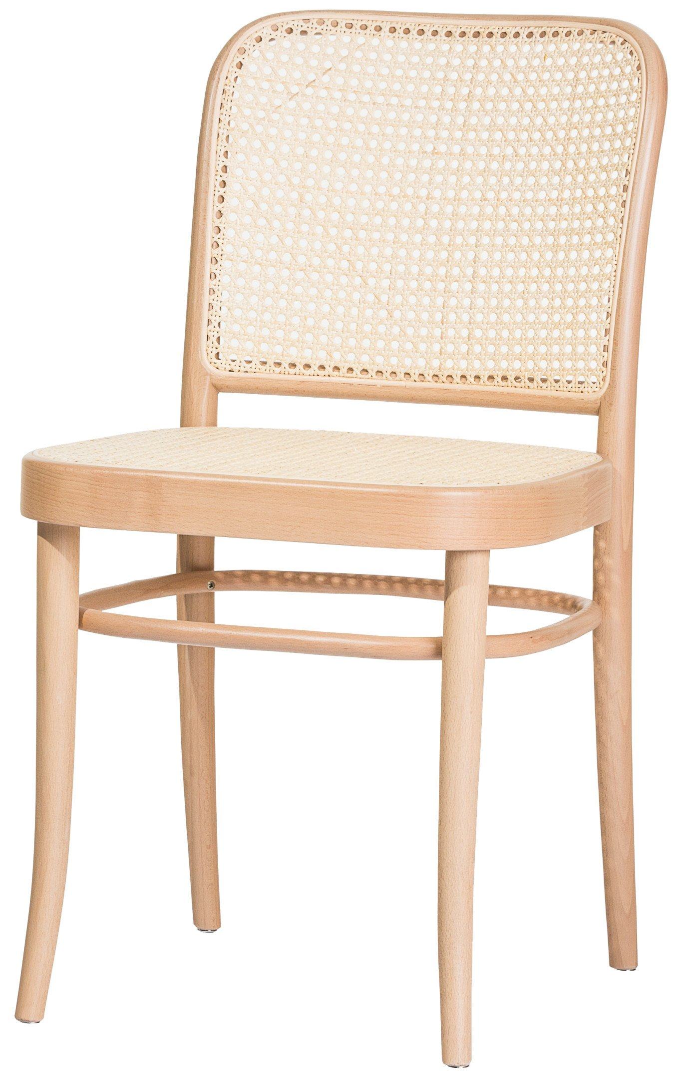 Natural 811 Chair with Cane Rattan Seat and Backrest, TON