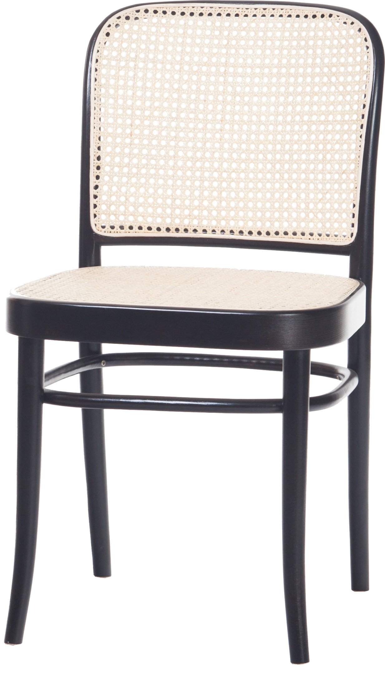 Black Grain 811 Chair with Cane Rattan Seat and Backrest, TON