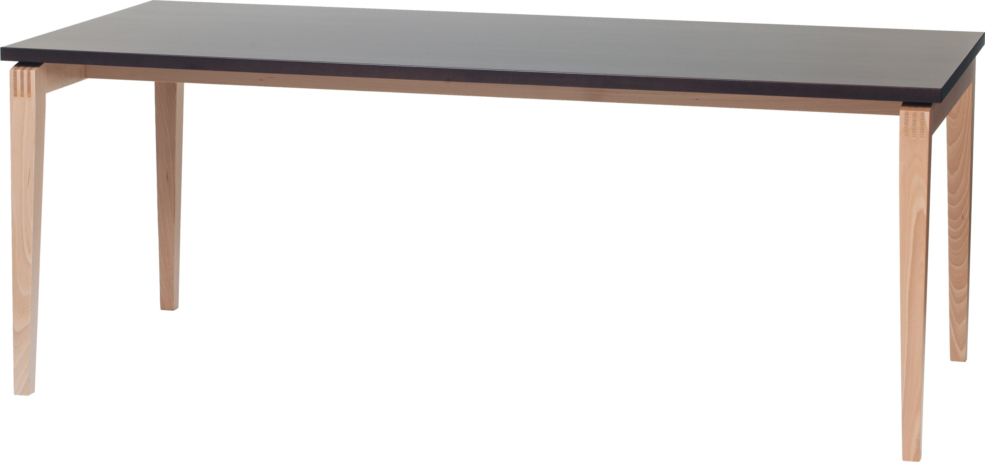 Beech Wood Natural/Black Grain Stockholm Table 90x200 by M. K. Johansen for TON