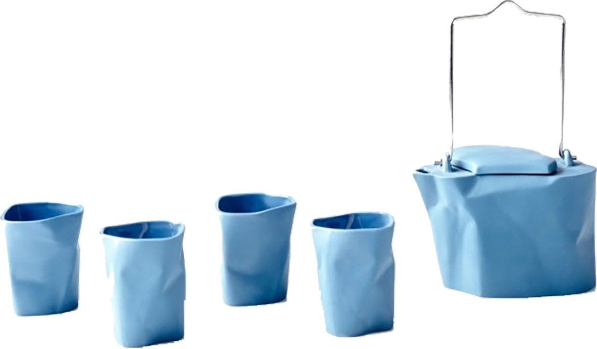 Blue Bent Tea set by Ćmielów Design Studio for Modus Design, Poland