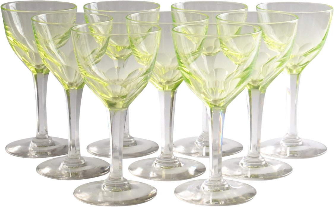 Set of Nine Glasses, early 20th C.