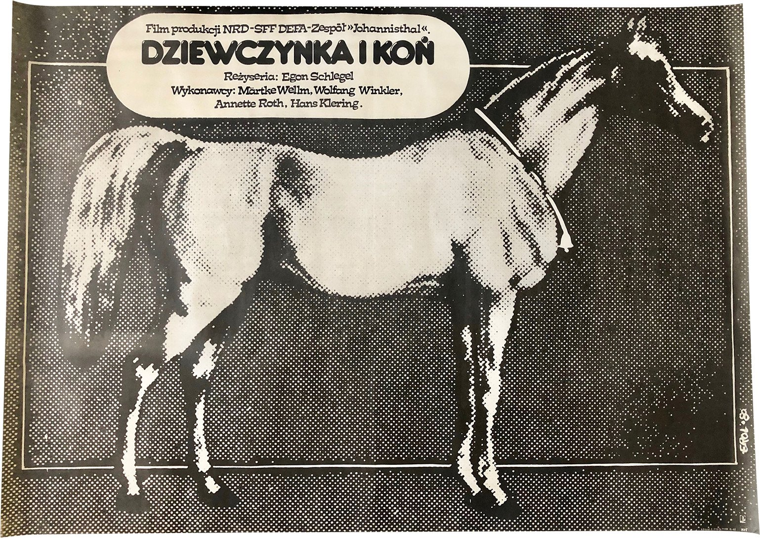 Poster by J. Erol, Poland, 1980s